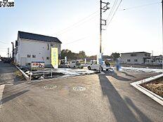 接道状況および現場風景 立川市西砂町3丁目