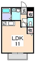 コンフォートテクノⅠ[1階]の間取り