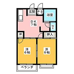 グリーンハイツ五反田II[1階]の間取り