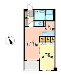 パークアクシス白壁[2階]の間取り