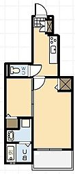 ヴィラポルト[1階]の間取り