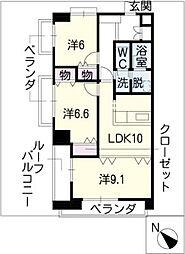 シャトレ御棚[3階]の間取り