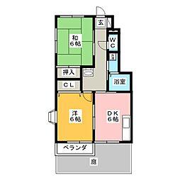ハイステージソラルA[1階]の間取り