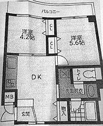 神奈川県横浜市西区岡野2丁目の賃貸マンションの間取り
