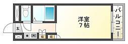 プレアール西冠Ⅱ[2階]の間取り