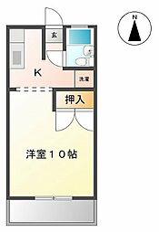 愛知県小牧市藤島町梵天の賃貸アパートの間取り