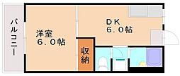 トレボンザミー塩原[2階]の間取り