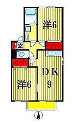 ピアC棟[1階]の間取り
