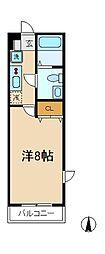 エトワールマンション岩瀬[3階]の間取り