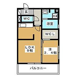 シーサーイン博多[3階]の間取り