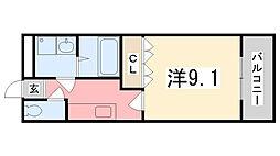 レゾンドゥヴィーヴル[103号室]の間取り