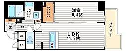 プレサンスNEO心斎橋[14階]の間取り