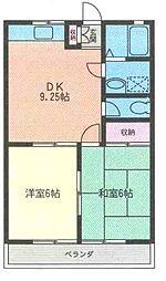 メゾンラフィーネ[2階]の間取り