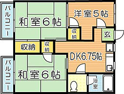 フォーブル穴生[2階]の間取り