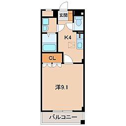 ジュニパー弘西[1階]の間取り