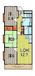 ホルツハイム[2階]の間取り