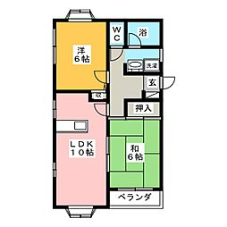 パークサイドII[1階]の間取り