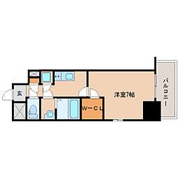 阪神本線 尼崎駅 徒歩6分の賃貸マンション 8階1Kの間取り
