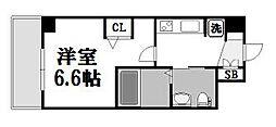 エステムコート新大阪IXグランブライト[811号室]の間取り
