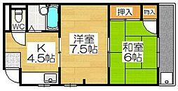 下村マンション[3階]の間取り