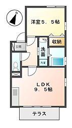 愛知県名古屋市緑区東神の倉1の賃貸アパートの間取り