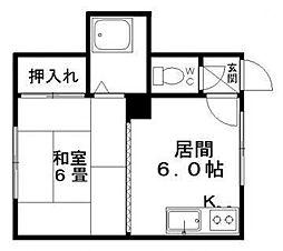 ドミ麻生[7号室]の間取り