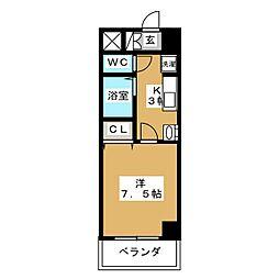 アルバ則武新町[7階]の間取り