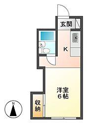 ハイツ北長野[2階]の間取り