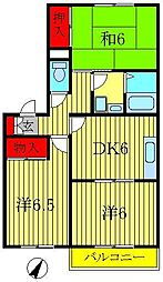 メゾンヤマリIII[202号室]の間取り