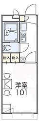 レオパレス王寺 2階1Kの間取り