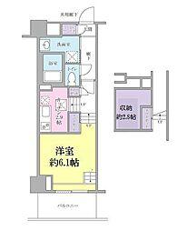 JR山手線 品川駅 徒歩13分の賃貸マンション 4階1Kの間取り