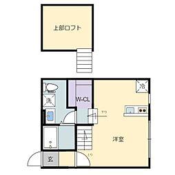 JR仙山線 東北福祉大前駅 徒歩10分の賃貸アパート 1階ワンルームの間取り