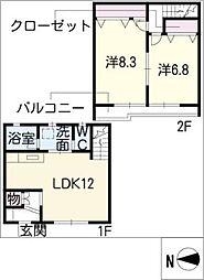 [タウンハウス] 愛知県瀬戸市西長根町 の賃貸【/】の間取り
