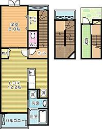 エクスクルーシブⅢ[3階]の間取り