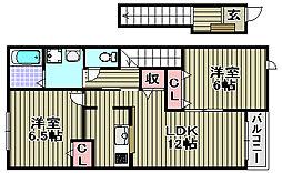 ミニヨン[201号室]の間取り
