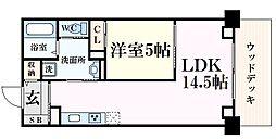 ザレジデンス芦屋スイート 4階1LDKの間取り
