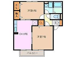 プレミールボヌール[1階]の間取り