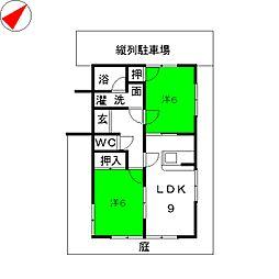 水越アパート[1階]の間取り