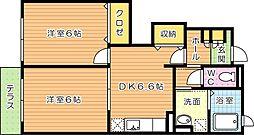 マウンテンビュー池田[1階]の間取り