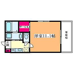 メープル大和田[202号室]の間取り