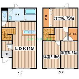 [テラスハウス] 北海道札幌市東区伏古五条5丁目 の賃貸【/】の間取り