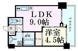 阪急千里線 天神橋筋六丁目駅 徒歩6分の賃貸マンション 8階1LDKの間取り