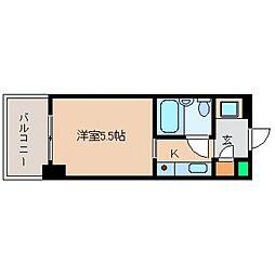 カサベラ岡本[602号室号室]の間取り