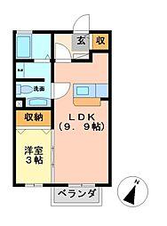 ルブラン[2階]の間取り