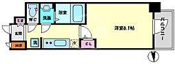 エステムコート梅田・天神橋IVステーションフロント 4階1Kの間取り