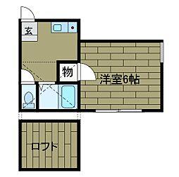 グエル東林間A号棟[1階]の間取り