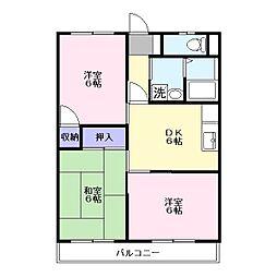 内野ハイツ[1階]の間取り