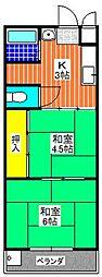 メゾンHM28[202号室]の間取り