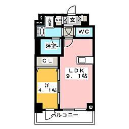 ディームス東陽町II 8階1LDKの間取り