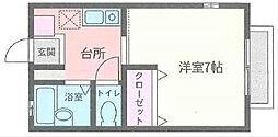 ソレイユ杉田[101号室]の間取り